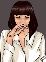 Mia Wallace, Pulp Fiction. by Zombocat89