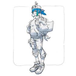 Skater Girl Sketch by Neexz