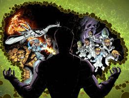 Fantastic Four. Cover. by MarteGracia