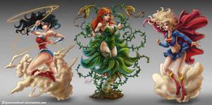 Fanart DC girls by EdgarSandoval