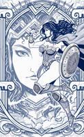 Wonderwoman Cover Fanart by EdgarSandoval