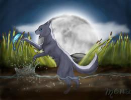 Mistystar: Hunting in the moonlight by Kokolana
