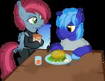 Vector DayanDey and Nela Schuss at dinner by DeyrasD