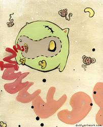 Zombie Owl Eat Brains by teaspoons
