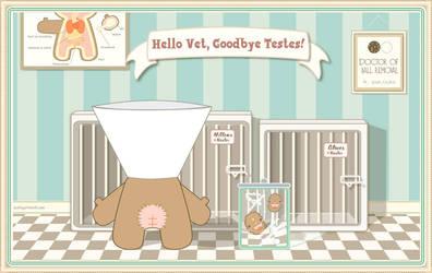 Hello Kitty, Goodbye Testes by teaspoons