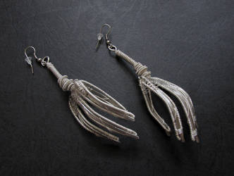 Claw Earrings by diana-irimie