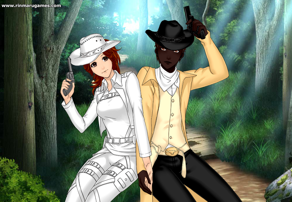 Testy Monica and Sheriff by WhiteCattheheroqueen