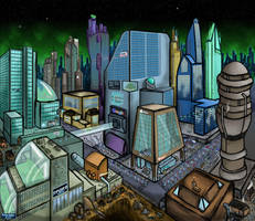 City Scape by froggy-hicks