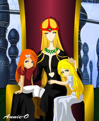 The Queen and her Princesses by Annie-O
