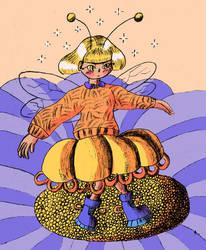 A flower bee-fairy by Cloudywavy