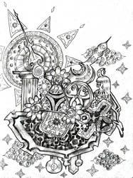 Cosmic Clock by Cloudywavy