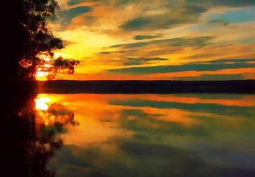 Sunset by LeonoraChris