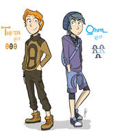 Theta and Ohm by skyblitzhart