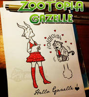 Zootopia : Peter meets Gazelle by doraemonbasil