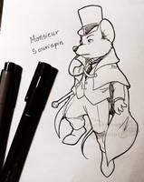 GMD-OC-Character : Monsieur Sourispin by doraemonbasil