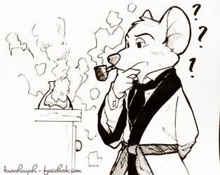 Fan Art : Basil of Baker Street by doraemonbasil