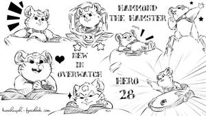 Overwatch fan art-New Hero 28-Hammond the hamster by doraemonbasil