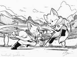Commission Art : The little warriors by doraemonbasil