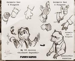 My OC - Furry Hands by doraemonbasil