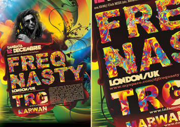 colorful typeface design by dronograph