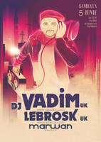 DJ VADIM poster design by dronograph