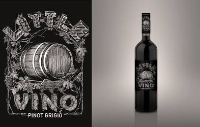 Little Vino wine label design by dronograph