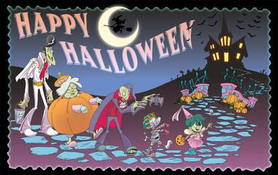 Happy-Zombie-Dog-Halloween by miabu