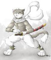 The Feline Swordsman by RalphTheFeline