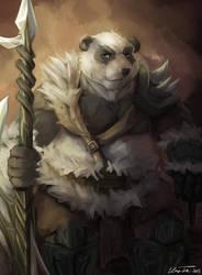 Panda Warrior by RalphTheFeline