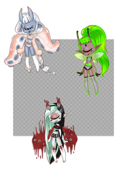lowered price !! Seoc Adopts   OPEN 3/3 by succultist