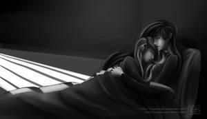 Cuddling behind bars by Ruepelwelpe