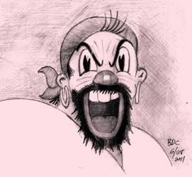 Fleischer Bros._POPEYE_SINDBAD--or Bluto? by BecDeCorbin