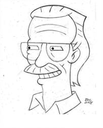 The Simpsons_Stan Lee_ Stan Lee tribute by BecDeCorbin