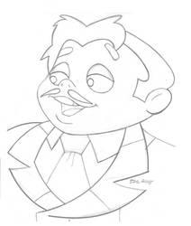 Hanna_Barbera_Gomez Addams_John Astin tribute by BecDeCorbin