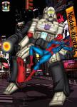 Spiderman Vs Megatron - colour by hellbat