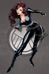 Black Widow - colours by hellbat