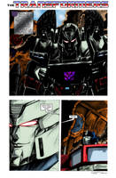 Ultimate Battle page 1 colours by hellbat