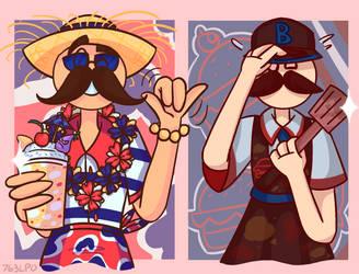 Flipline-Papa Louie Outfits 2 by 763Lilypadpandaowl