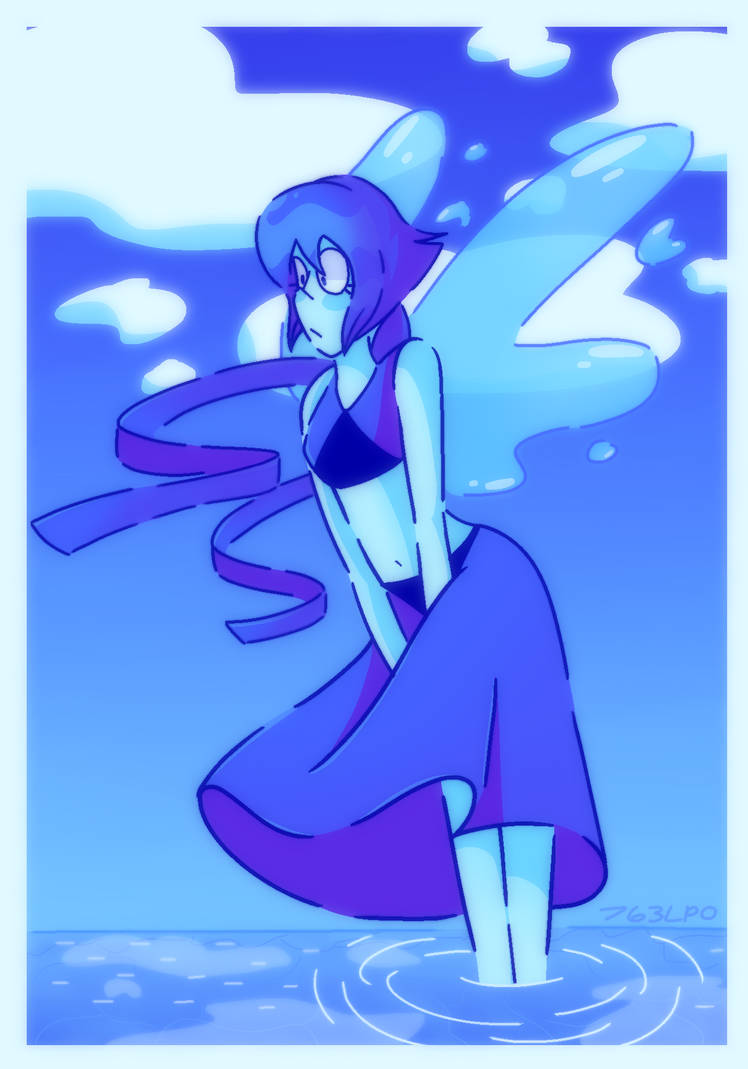 """I honestly don't know what else to title this since I already make like 3 fanarts of Lapis Lazuli. Plus, after watching the recent Steven Universe episodes and listening to """"Distant Shore"""" this got..."""