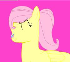 I Drew Fluttershy!! by puremelody12