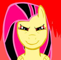 I Drew Evil Fluttershy by puremelody12