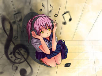 Headphone Girl by SailorGigi