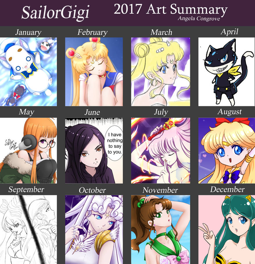 2017 Art Summary by SailorGigi