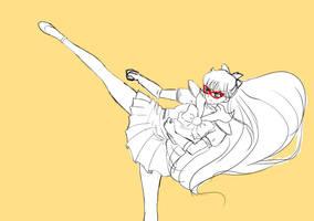 New Sailor V kick sketch by SailorGigi