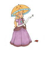 Princess Peach in Copics by Raspberrychan3