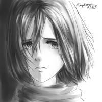 Mikasa Ackerman by Raspberrychan3