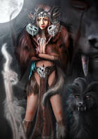 wolf woman by J-MILLER
