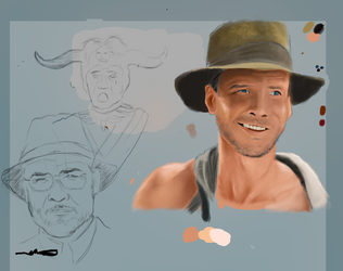 Try To Paint Indiana Jones by Anod26