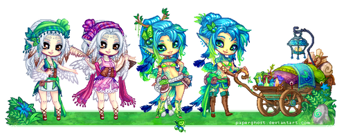Sprites: Odilen and Cure by manaberry