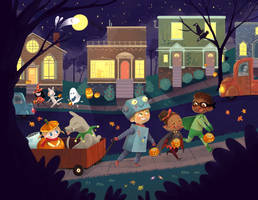 trick or treating by JennyRex